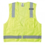 Reflective Safety Vest, Extra Large, High-Visibility Yellow
