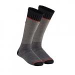 Merino Wool Thermal Socks, Mid-Length, Gray, Large