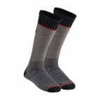 Merino Wool Thermal Socks, Mid-Length, Gray, Extra Large