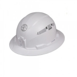 Hard Hat, Full Brim, Vented, White