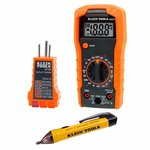 Electrical Test Kit with Receptacle Tester, MM300 Multimeter, and NCVT-1