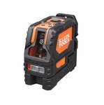 Self-Leveling Cross-Line Laser Level w/ Hard Carrying Case, 65ft. Max
