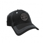 Lightweight Lineman Baseball Cap, Black with White Stitching