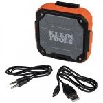 Water-Resistant Bluetooth Speaker w/ Magnetic Strap, Orange
