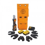 20V Battery-Operated Cable Cutter/Crimper Kit, 4 Ah