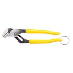 Yellow 10 inch Pump Pliers with a Tether Ring and Quick-Adjust Rivet