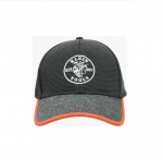 Gray & Orange Cotton/Mesh Lineman Logo Baseball Cap