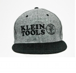 Klein Tools Logo Gray Wool Snapback Hat