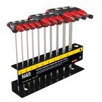 10 Piece Journeyman Red T-Handle Hex Key Set