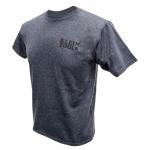 Hanes Tagless T-Shirt, XXL, Gray