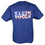 Hanes Tagless Short-Sleeved American Flag T-Shirt, XL, Navy Blue