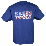 Hanes Tagless Short-Sleeved American Flag T-Shirt, XXL, Navy Blue