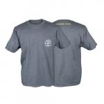 Hanes Tagless Short-Sleeved Pocket T-Shirt, Large, Charcoal Gray