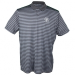 Nike Short-Sleeved Striped Golf Polo, Large, Charcoal Gray & Black