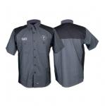 Red Kap Short-Sleeved Work Shirt, XL, Charcoal & Black