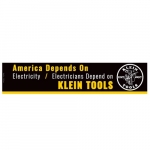 """Electricians Depend on Klein Tools"" Bumper Sticker"