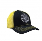 Black & Yellow Lineman Logo Trucker Hat