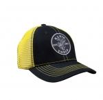 Black & Yellow Lineman Logo Trucker Hat