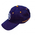Navy & Orange Lineman Logo Baseball Hat