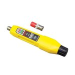 Yellow Simple Operation 2-Tester Coax Explorer with Batteries