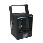 3850W Garage Heater w/ Thermostat & Bracket, 240V, Black