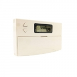Electronic Programmable Thermostat, 1 Amp, 24V, White