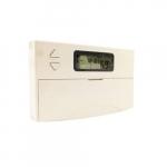 Electronic Programmable Thermostat, 1 Amp, 24V, White