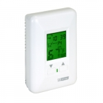 Electronic Programmable Thermostat for Hydronic Heaters, 12.5 Amp, 120V, White
