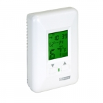 Electronic Programmable Thermostat w/ Pump Timer for Hydronic Heaters, 120V, White