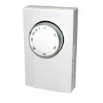 Mechanical Thermostat, Cooling Only, Single Pole, 22 Amp, 120V-277V, White