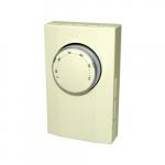 Mechanical Thermostat, Double Pole, 22 Amp, 120V-277V, Almond