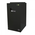 34130 BTU/H Electric Furnace w/ ECM Motor, 10kW, 2500 Sq Ft, 1 Ph, 42 Amp, 240V, Black
