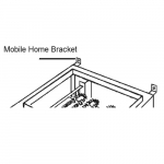 Mobile Home Mounting Bracket for KF/S Series Furnace