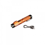 Rechargeable LED Focus Flashlight with Laser, Orange