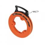 50-Ft Steel Fish Tape w/ Case, Orange