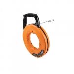125-Ft Stainless Steel Fish Tape, Orange