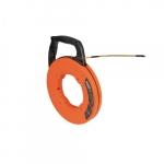 50-Ft Fiberglass Fish Tape w/ Spiral Steel Leader, Orange