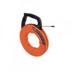 50-Ft Multi-Groove Fiberglass Fish Tape w/ Nylon Tip, Orange