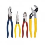 4 Piece Plier Set w/ Pump Pliers, Dipped Handle