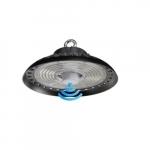 100W-200W Adjustable LED UFO High Bay w/ Motion Sensor, 32000 lm, 100V-277V, 5000K