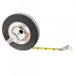 .375-in X 50-ft Long-Line Measuring Tape, Steel, Black