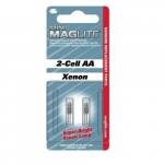 Mini Mag Flashlight Xenon Bulb, AA-2 Pack