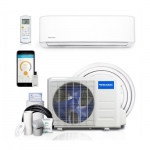 1.8-ft Mini Split Air Conditioner & Heat Pump, Up to 250 Sq Ft, 9000 BTU/H, 230V, White