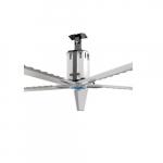 14-ft High Volume Industrial Fan, 1550 Sq Ft, 1 Ph, 5-Blade, 208V-230V