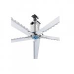 18-ft High Volume Industrial Fan, 2420 Sq Ft, 1 Ph, 5-Blade, 208V-230V