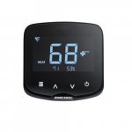 HVAC Ductless Programmable IR Thermostat w/ WiFi, 24V, Black