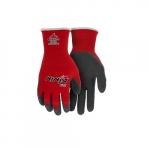 Ninja Flex Nylon Shell Gloves, 15 Gauge, Large, Red & Gray