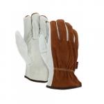 Split Leather Driver Gloves, Unlined, Medium