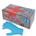 4 Mil., Medium, Nitrile Disposable Gloves, Blue