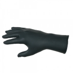 Nitrile Disposable Gloves, Powder Free, Textured, x-Large, Black